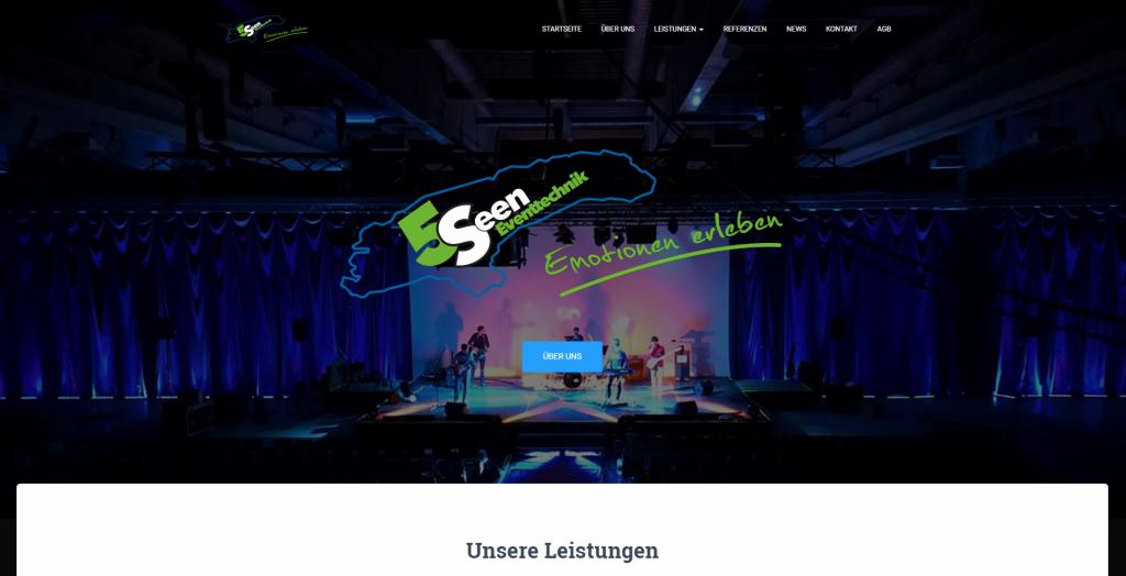 Internetpräsenz der 5 Seen - Eventtechnik GmbH